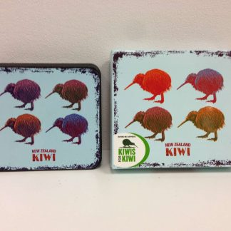 Vintage Coloured Kiwi Coasters