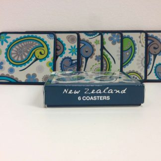 Paisley Kiwi Coasters