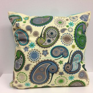 Paisley Kiwi Cushion Cover