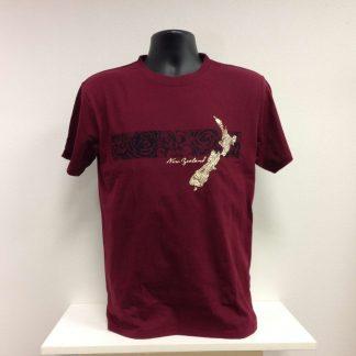 map kowhaiwhai T-shirt