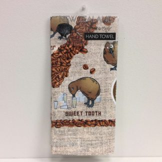 Coffee Kiwis Hand Towel