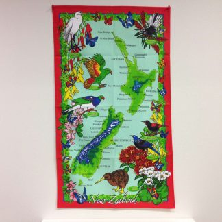 Red Border Tea Towel