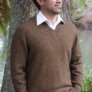 Possum & Merino V Neck Jumper