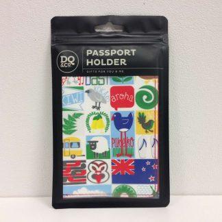 kiwiana tiles passport holder