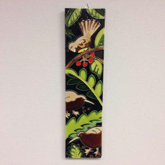 kiwi fantail plaque