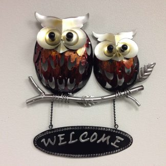 Metal Welcome Owl