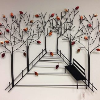 Trees with park bench