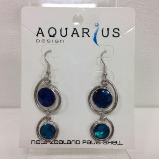 paua drop earrings