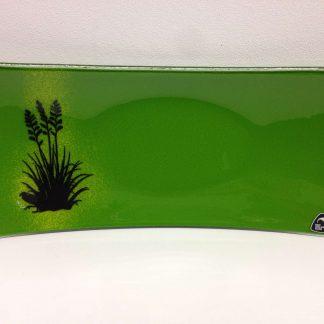 Green Glass platter