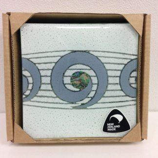 Paua Koru Coasters