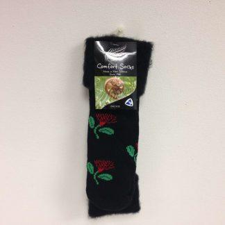 Pohutakawa Bed Socks - Pohutakawa comfort sox