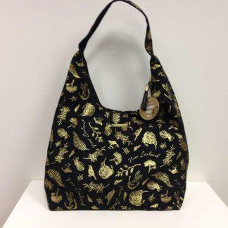 Black & Gold shoulder bag
