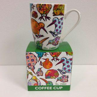 Kaleidoscope Kiwi Coffee Mug