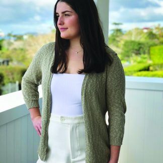 Cotton and Linen Stone Cardigan