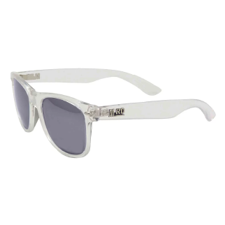Moana Road Clear Plastic Sunglasses with Gray Lenses