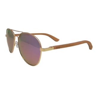 Moana Road Aviator Sunglasses with Pink Lenses