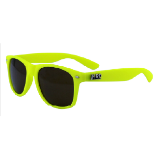 Moana Road Yellow Plastic Fantastic Sunglasses with Black Lenses