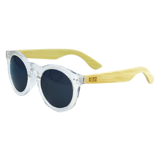Moana Road Clear Grace Kelly Sunglasses with Wooden Arms