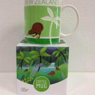 NZ Scene Kiwi coffee mug