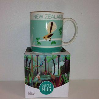 NZ Scenes Birds & Bush Coffee Mug