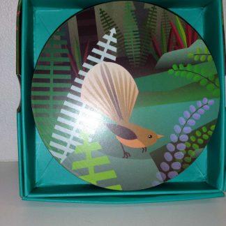 NZ Scene Birds & Bush Set of 4 Coasters