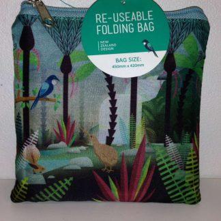 NZ Scene Birds & Bush Folding Bag