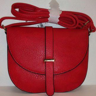 Lilah Mini Oval Handbag - Red