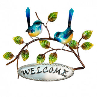 Fantail Welcome Metal Wall Art